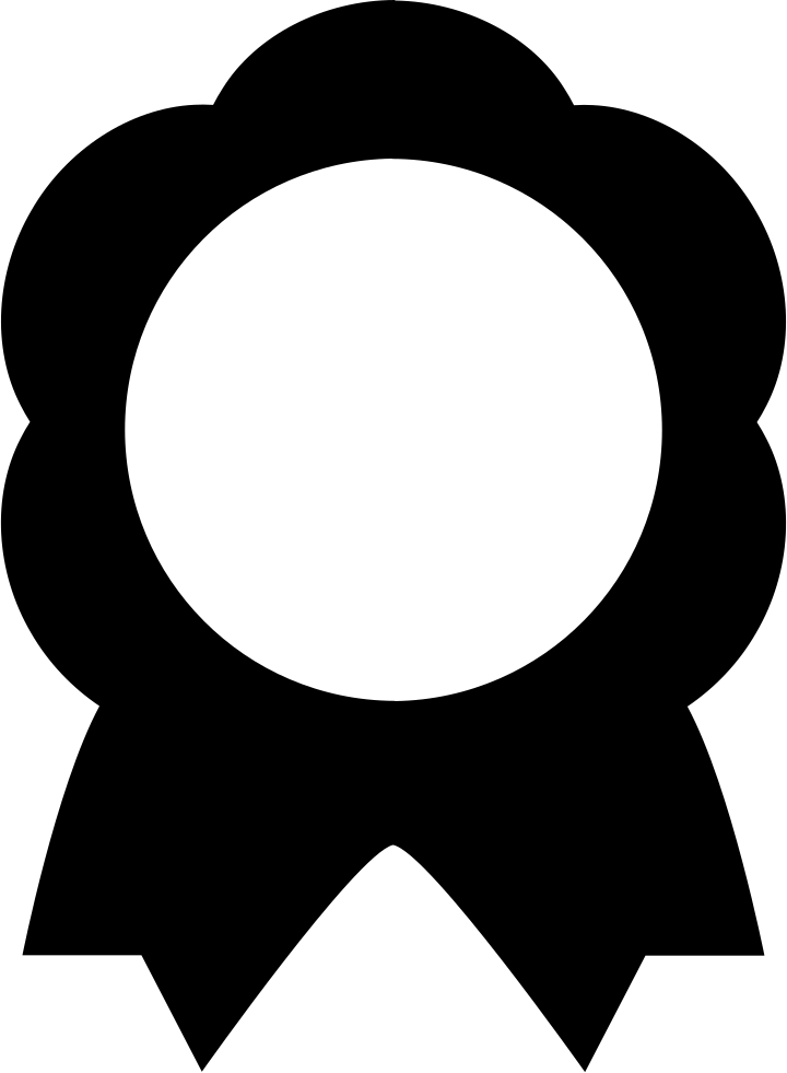 Award of flower shape. Clipart diamond medal
