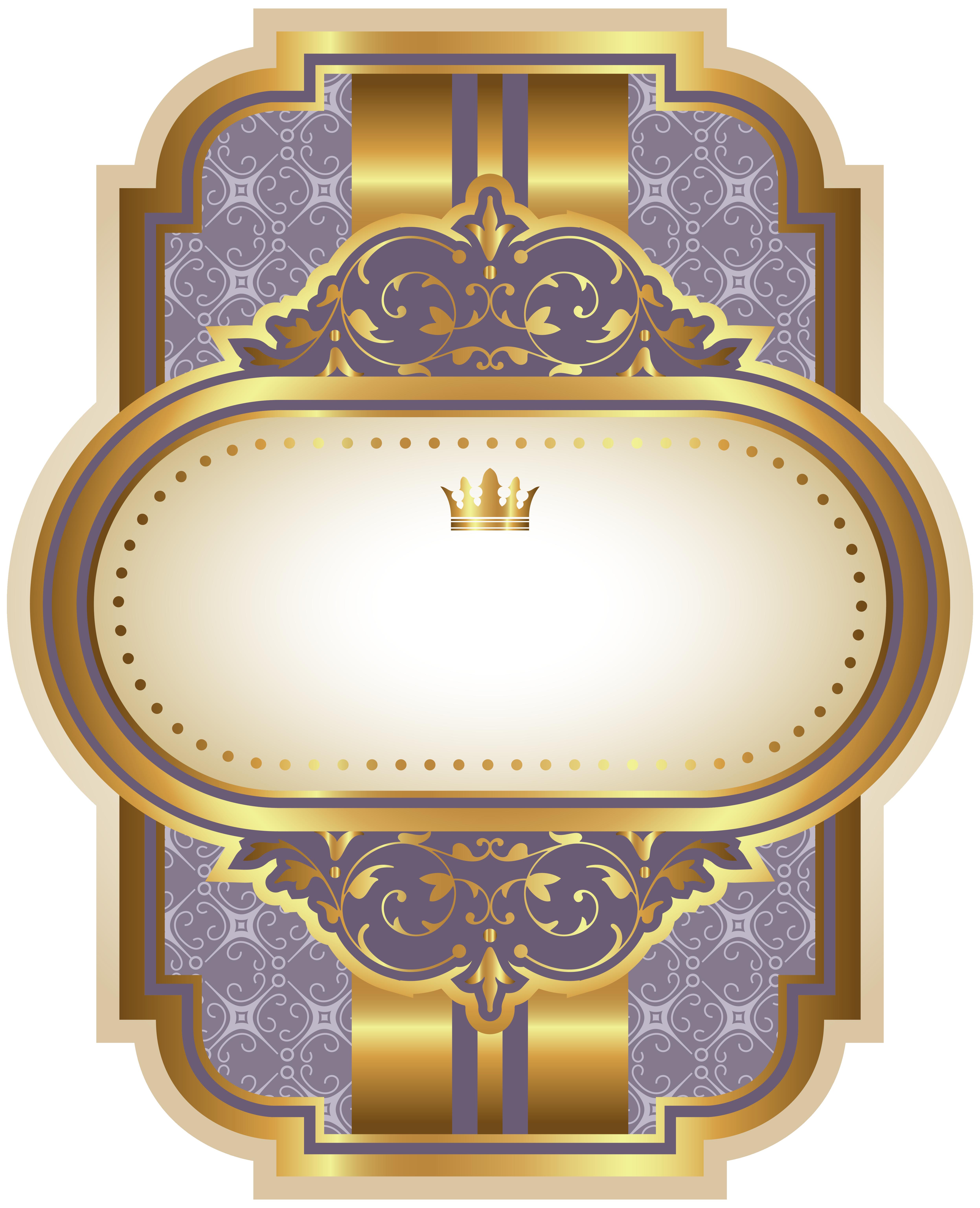 Clipart diamond medal. Purple luxury label template