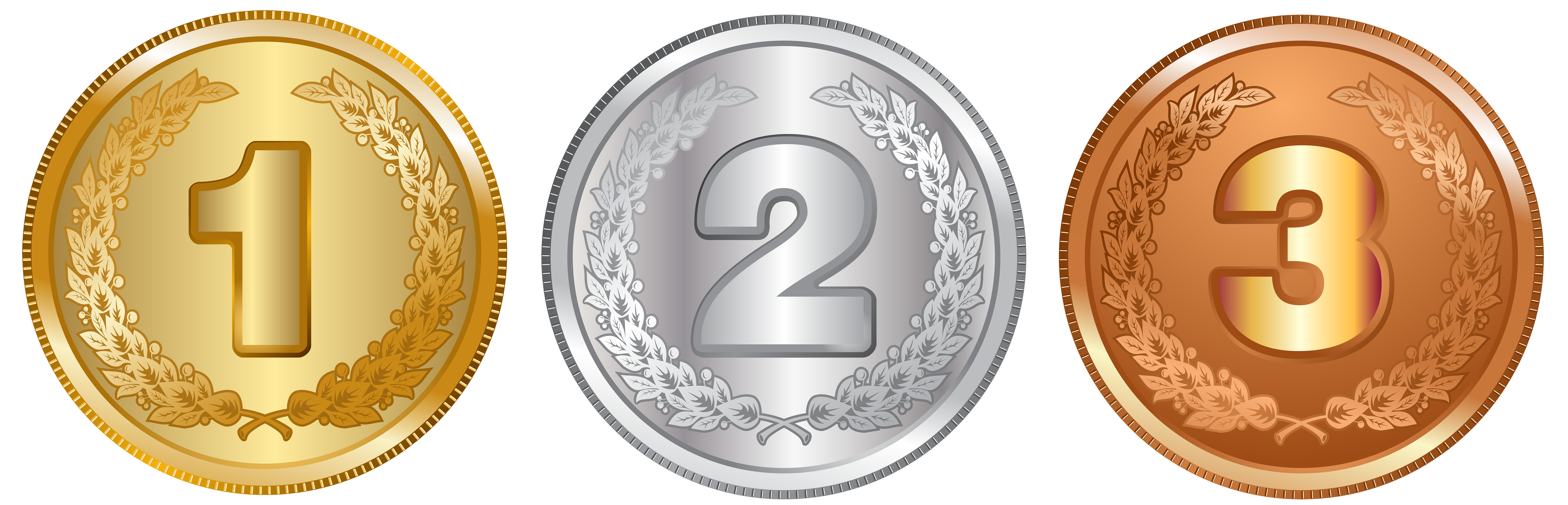 Coin clipart plain gold. Silver and bronze medals