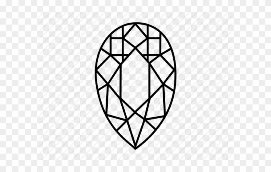 Diamonds clipart mineral. Drawn diamond pear shape
