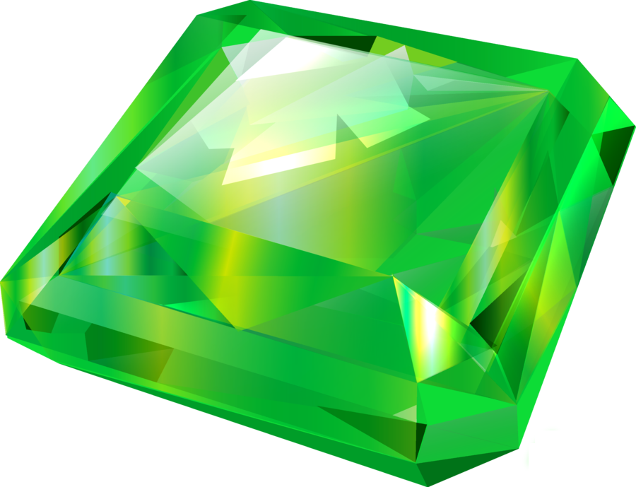 Diamond emerald png image. Gem clipart green