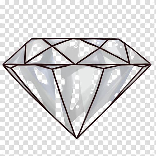 S white illustration transparent. Diamond clipart minimalist