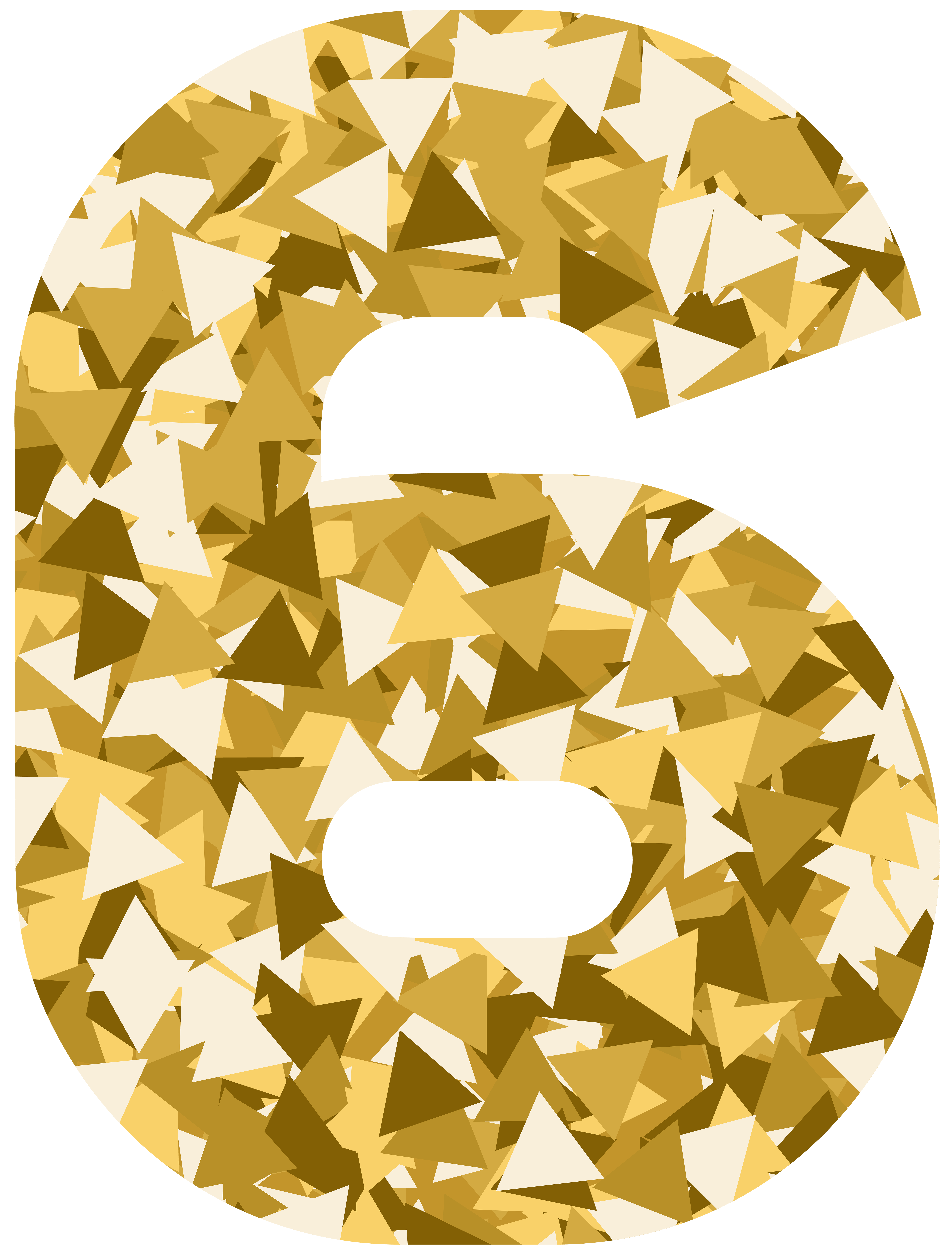Mosaic style number png. Ice clipart six
