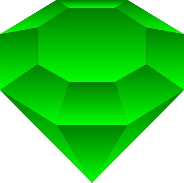 Emerald panda free images. Clipart diamond object