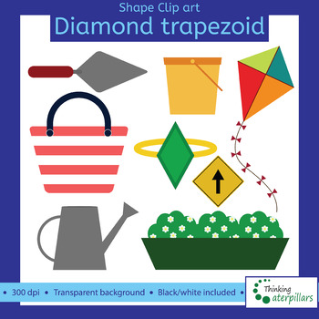 Trapezoid and objects d. Clipart diamond object