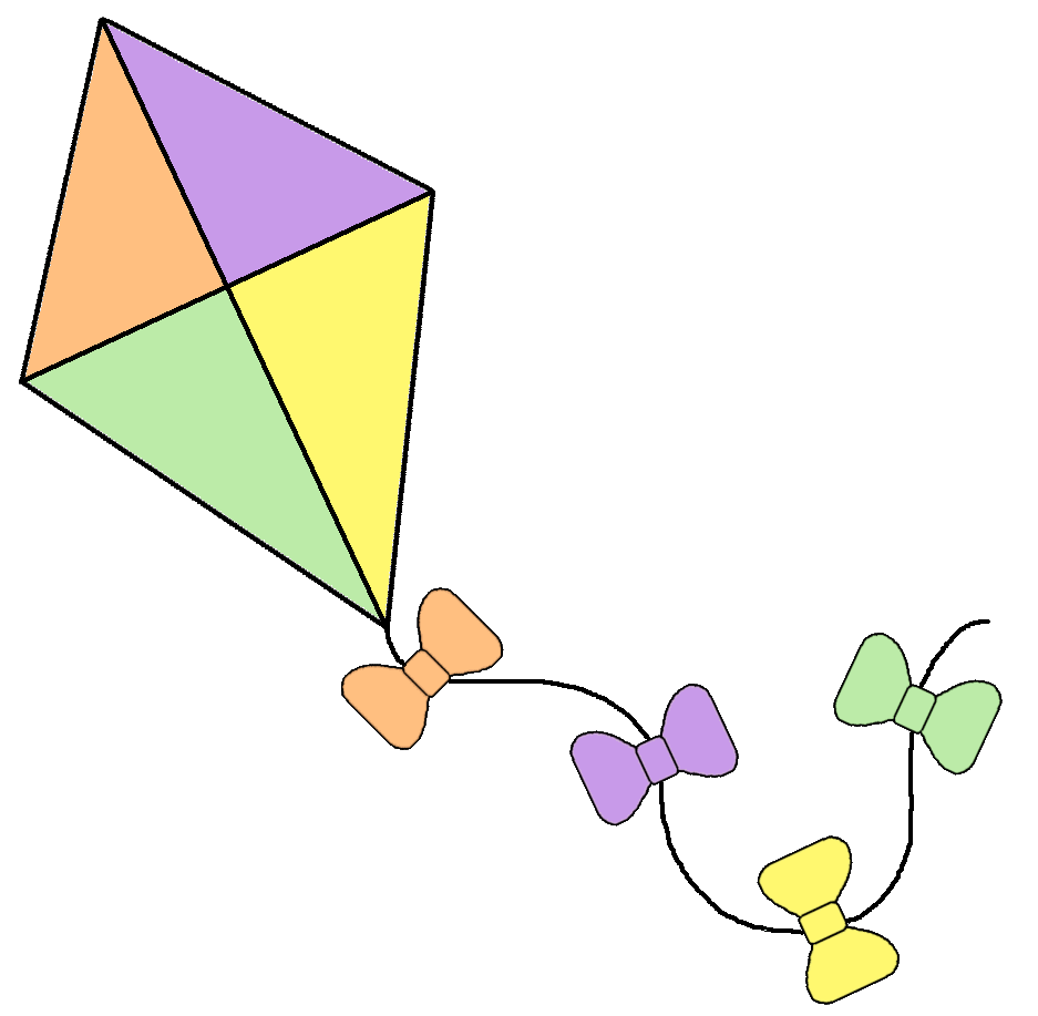 Clipart diamond object.  collection of kite