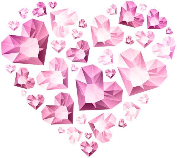 Hert of hearts transparent. Clipart diamond pink