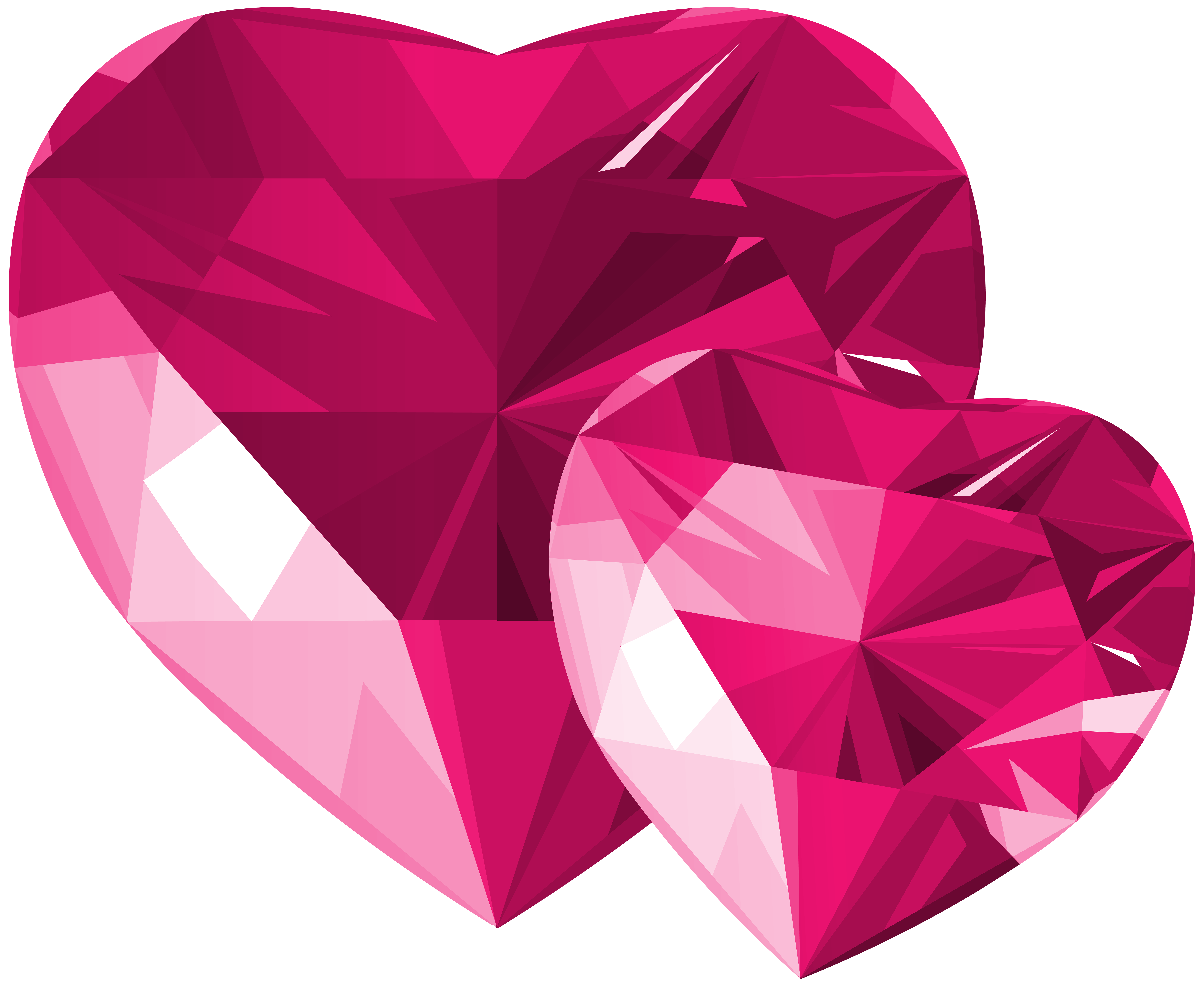 Hearts transparent png clip. Diamond clipart pink