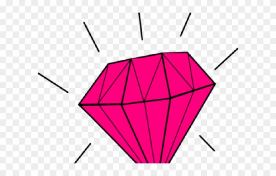 Transparent background . Diamond clipart pink