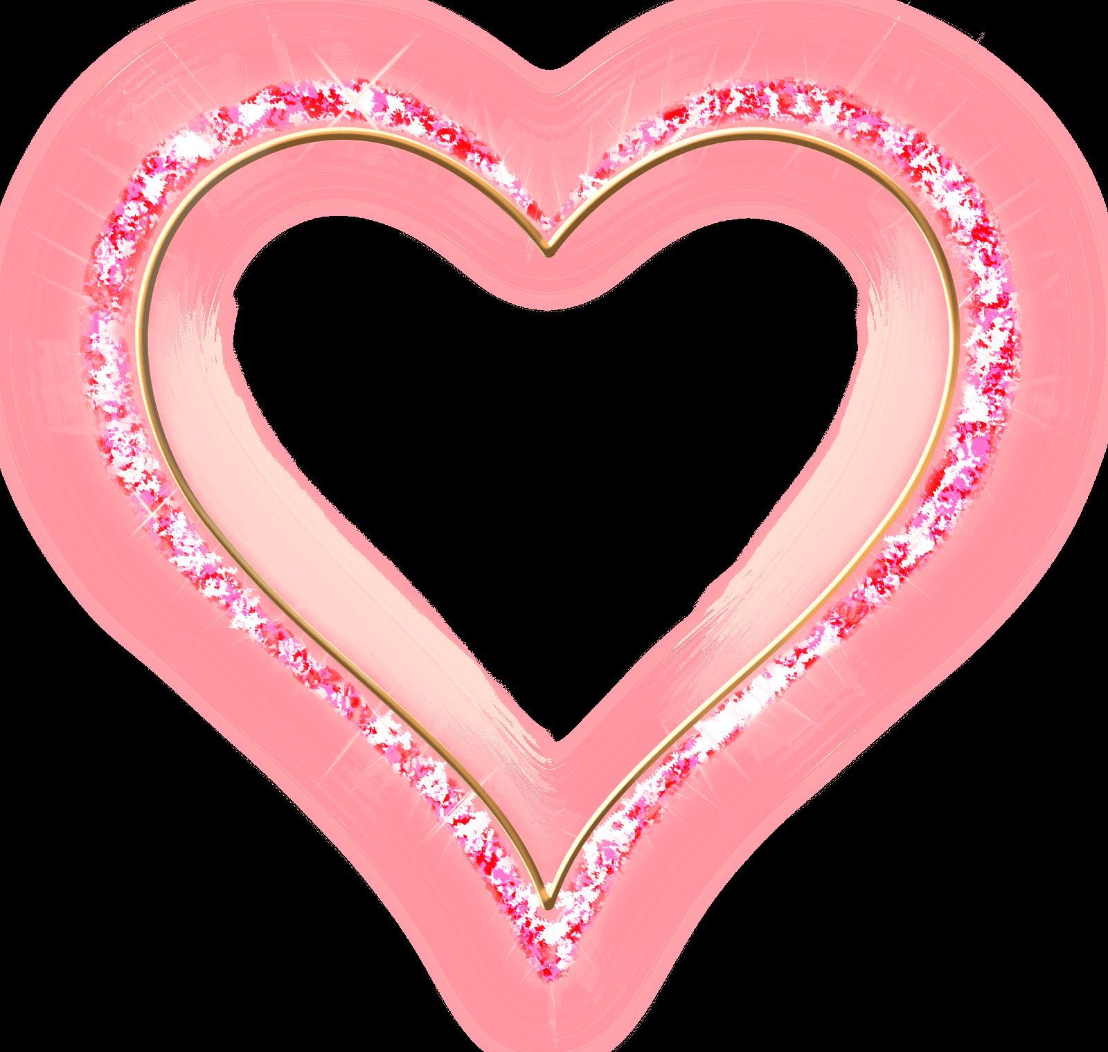 Clipart diamond pink. Transparent frame gold heart