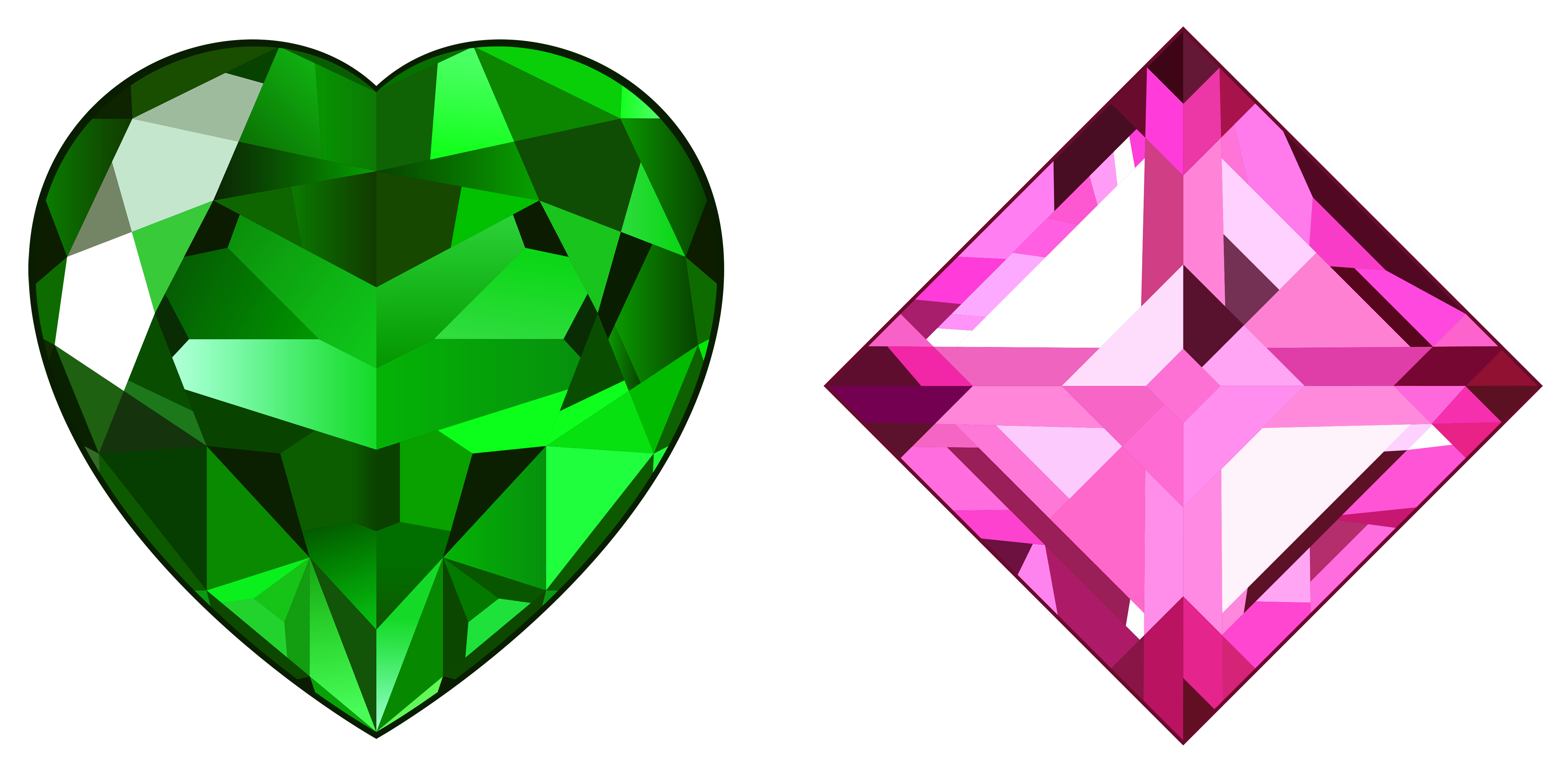 Clipart diamond pink. Transparent green and diamonds