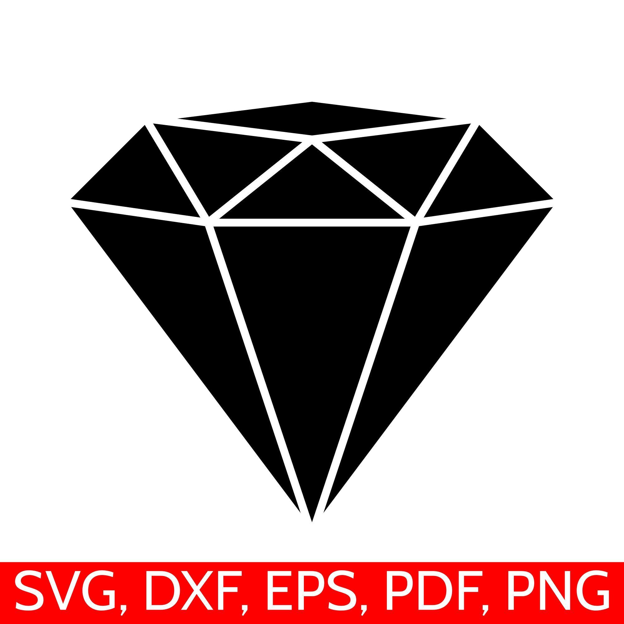 Clipart diamond printable. Svg file diamong cut
