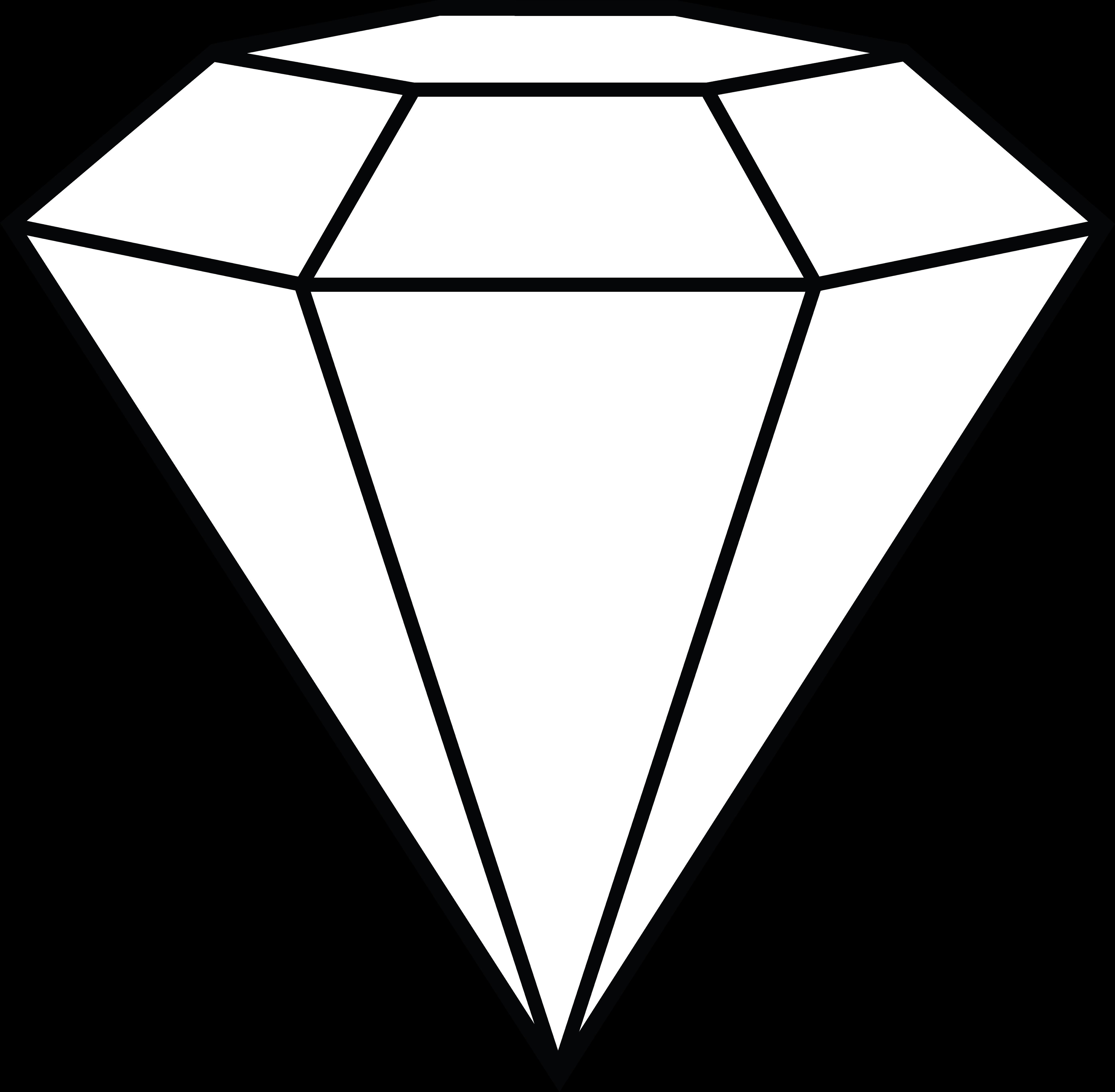 Diamond line drawing at. Diamonds clipart sketch