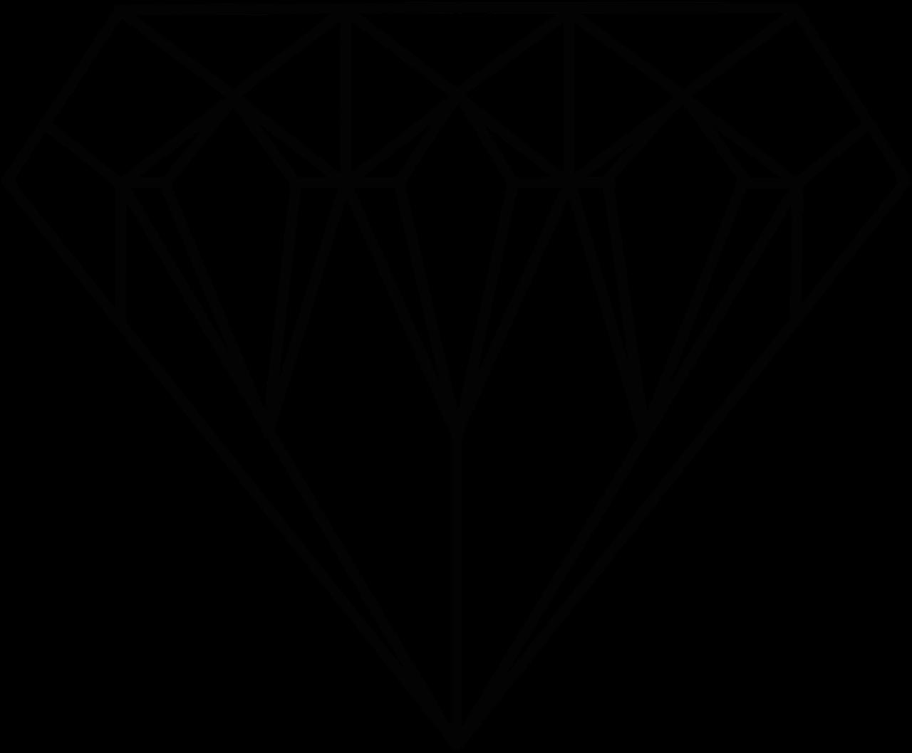Diamonds jewel coloring page. Clipart diamond printable