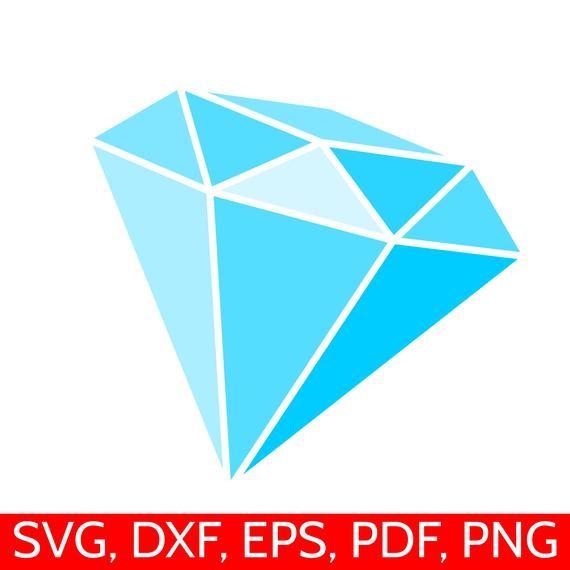 Blue svg file diamonds. Clipart diamond printable