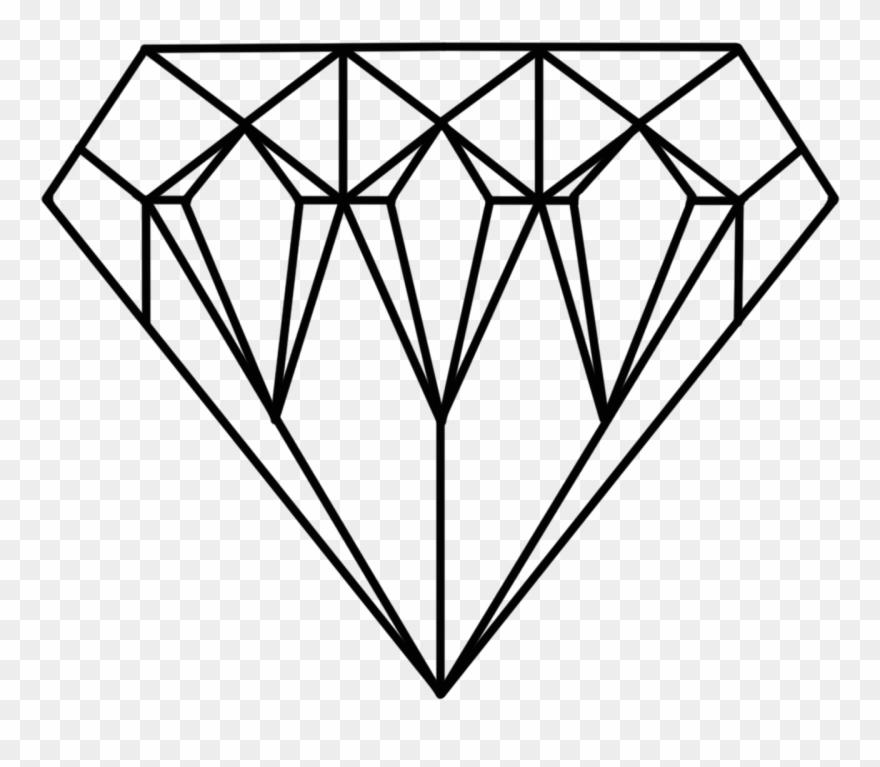 Diamonds clipart coloring page. Jewel diamond printable