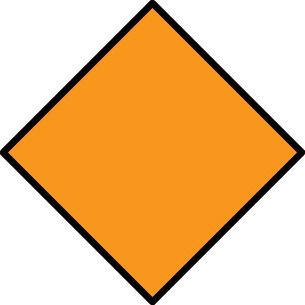 Diamond clipart yellow diamond. Orange clip art at