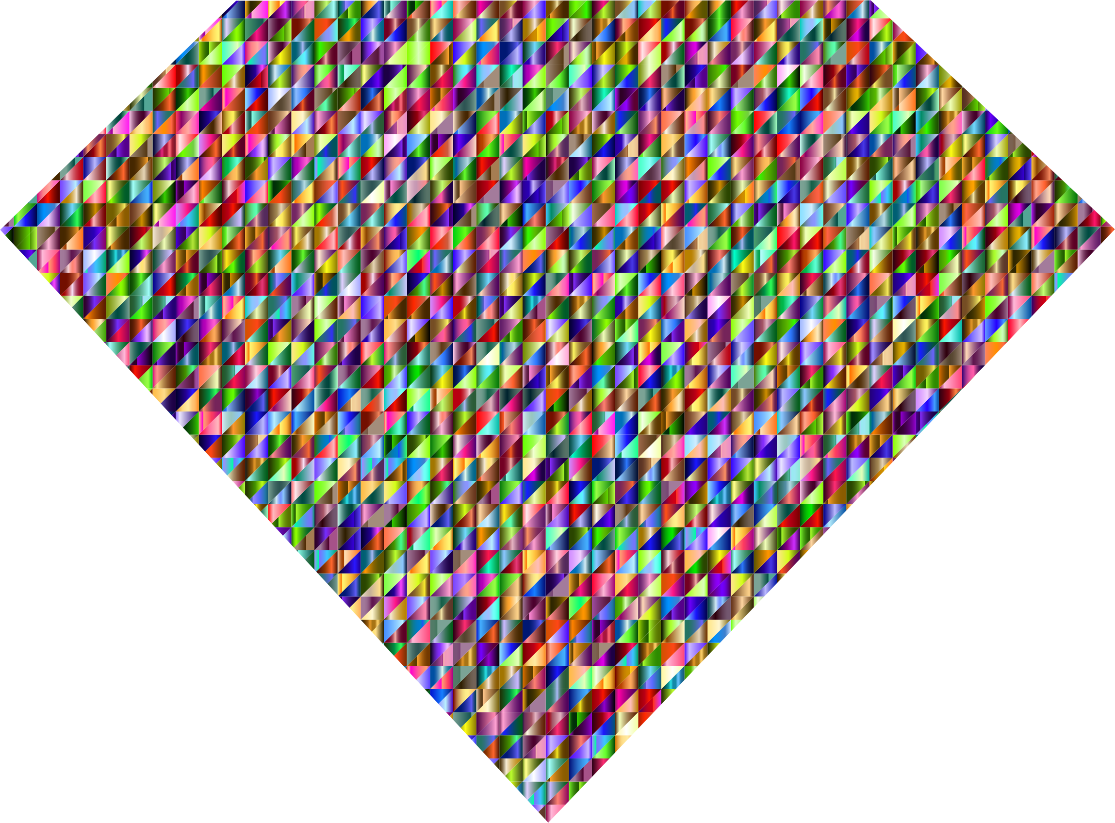 Diamond rainbow transparent.