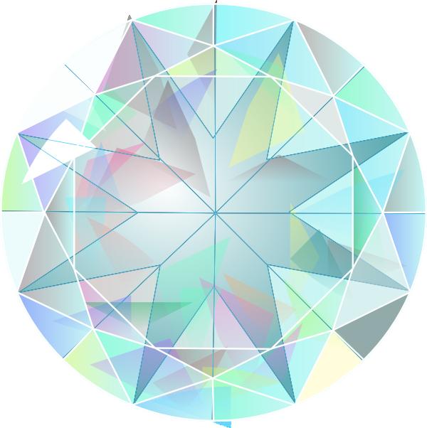 Diamond rainbow clip art.
