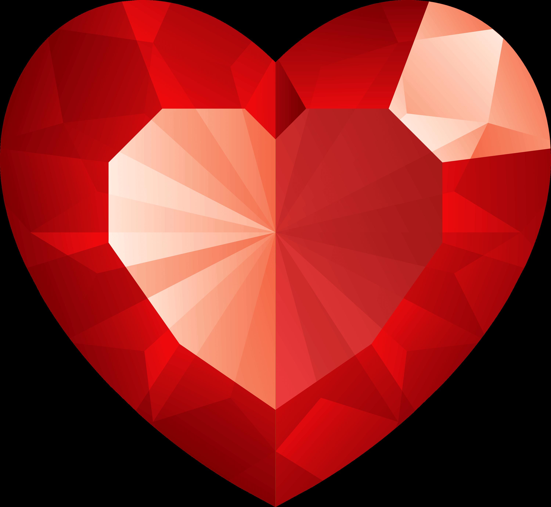 Diamond clipart red diamond. Heart png transparent