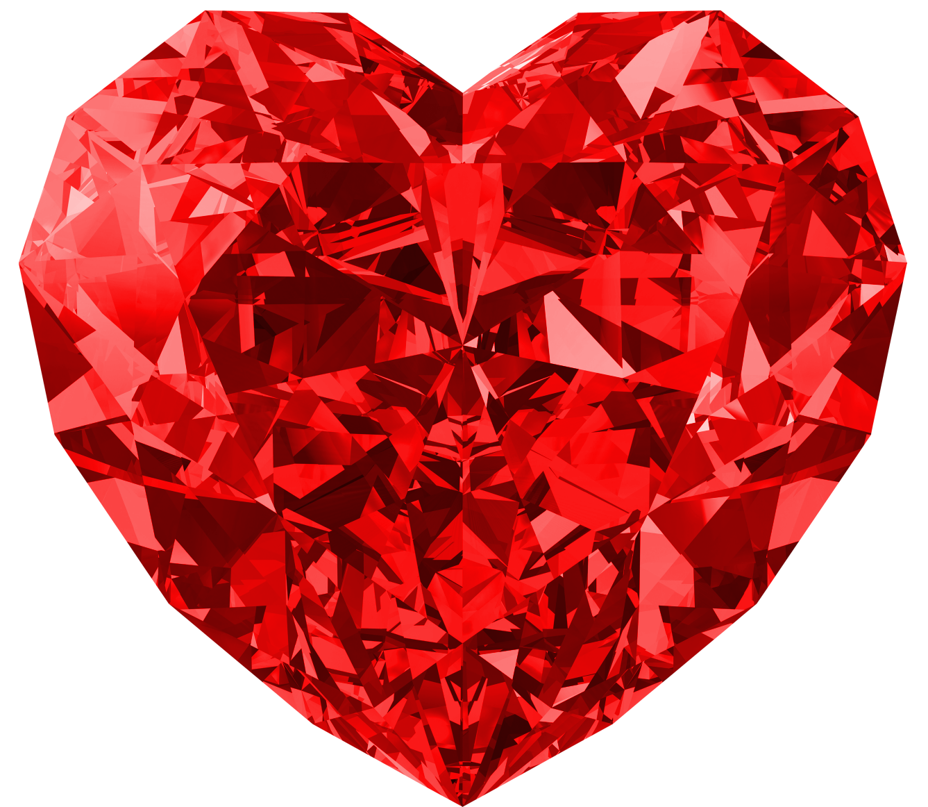 Crystal clipart large. Red diamond heart png