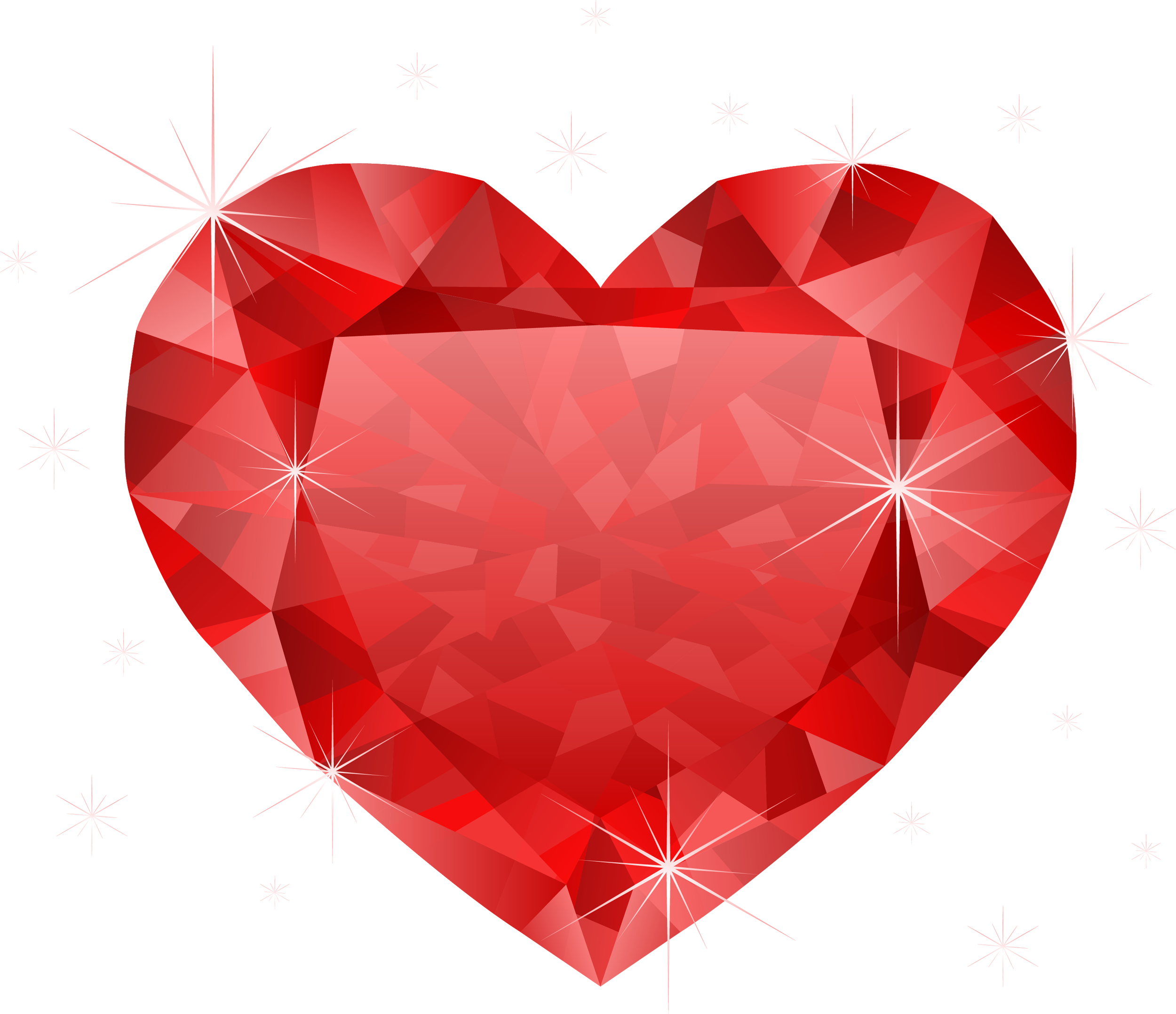 Clipart hearts vector. Large transparent diamond red
