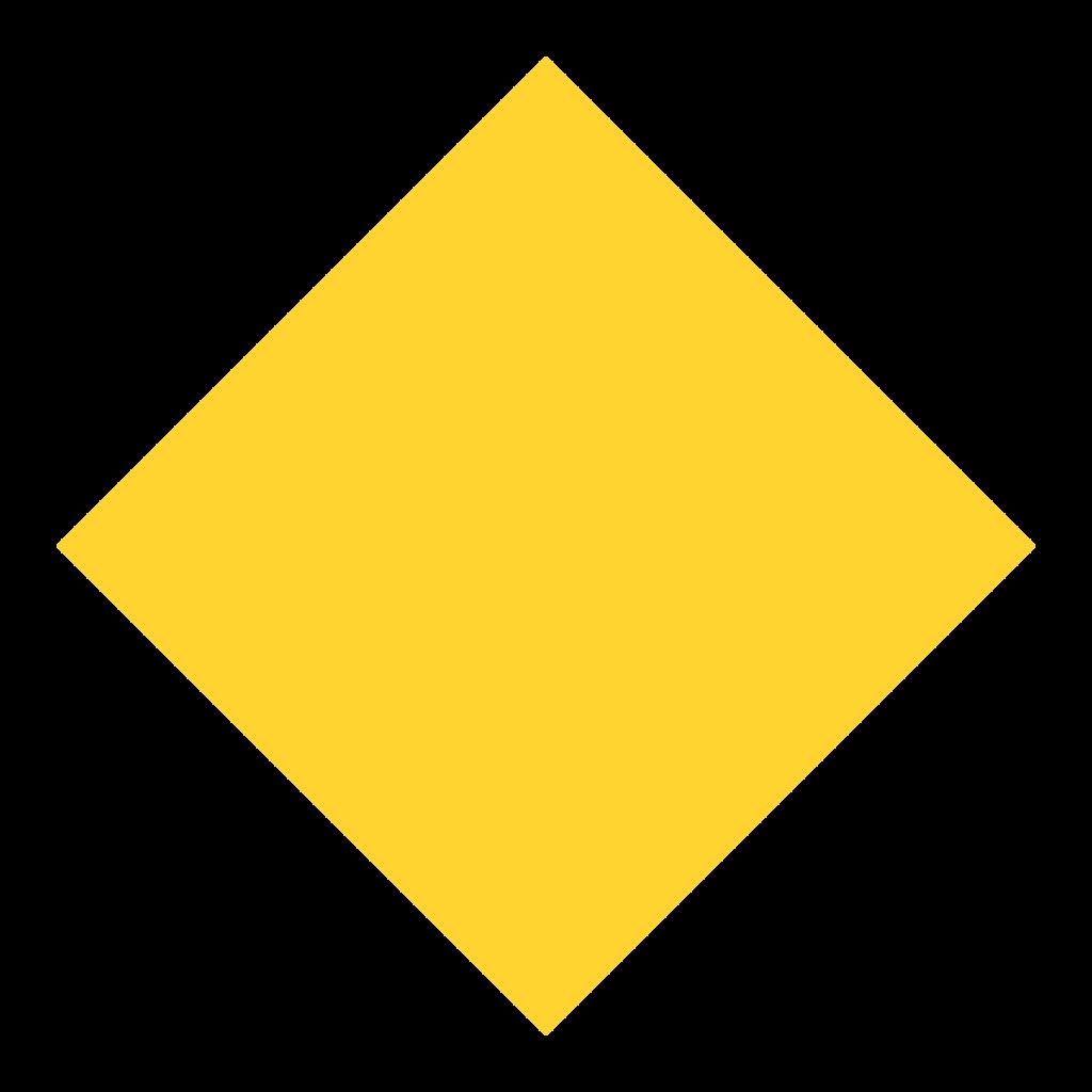 Yellow shape rhombus clip. Diamond clipart square
