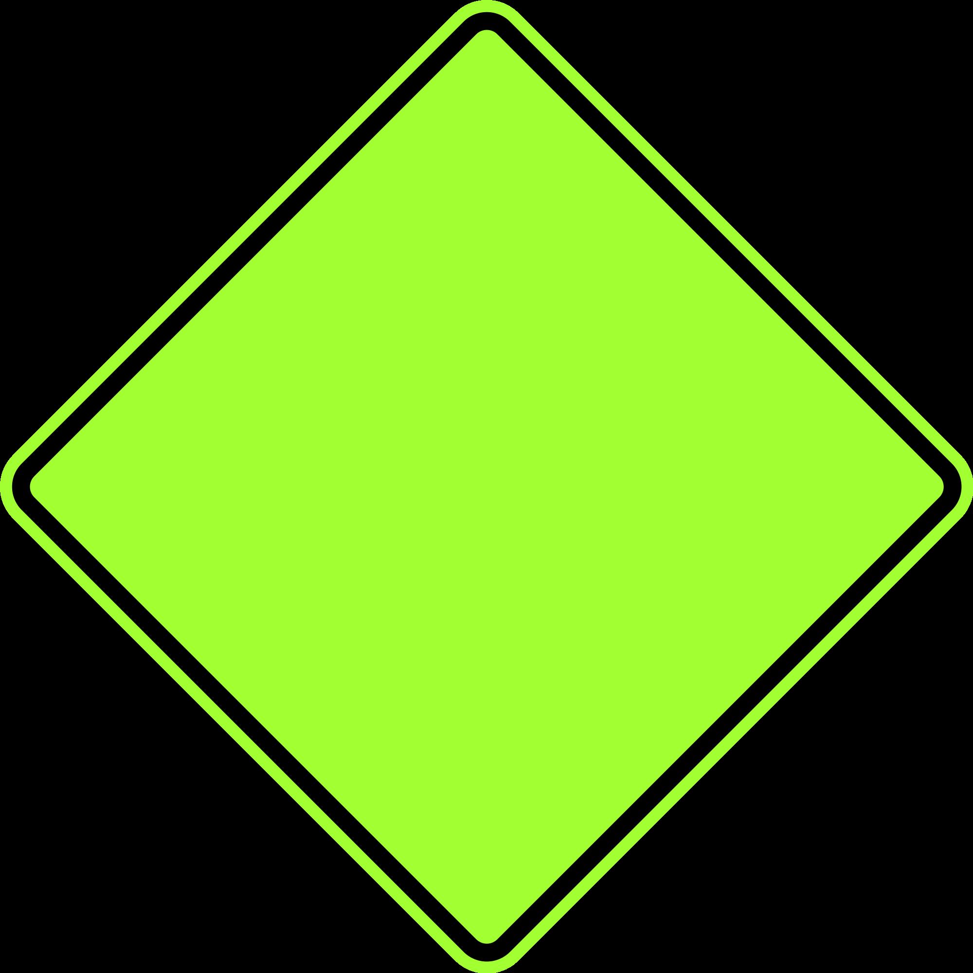 File warning sign fluorescent. Diamond clipart square