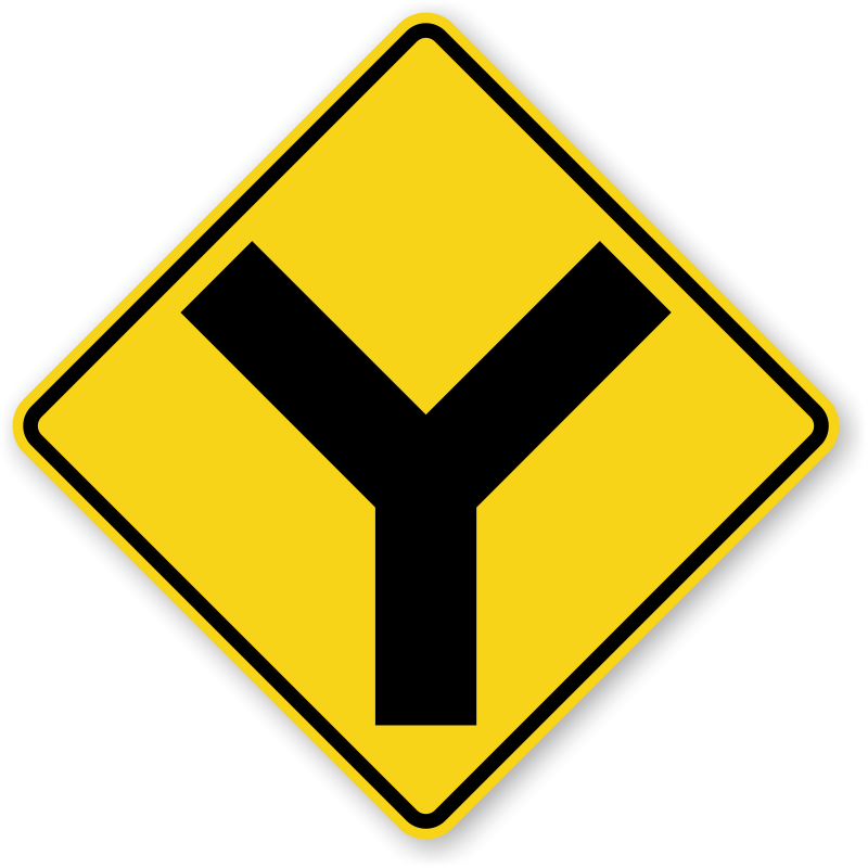 Warning signs y symbol. Clipart road roadway
