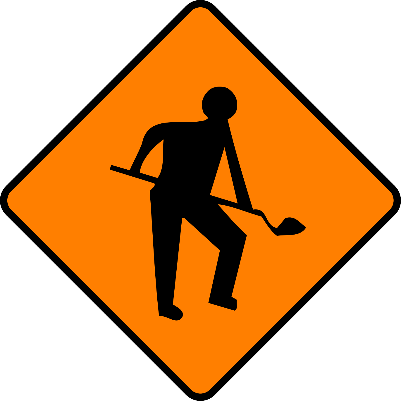 File ireland sign wk. Working clipart road work
