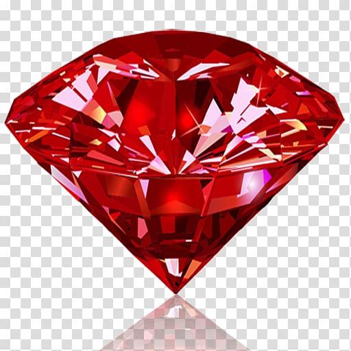 Red gemstone diamond transparent. Diamonds clipart ruby