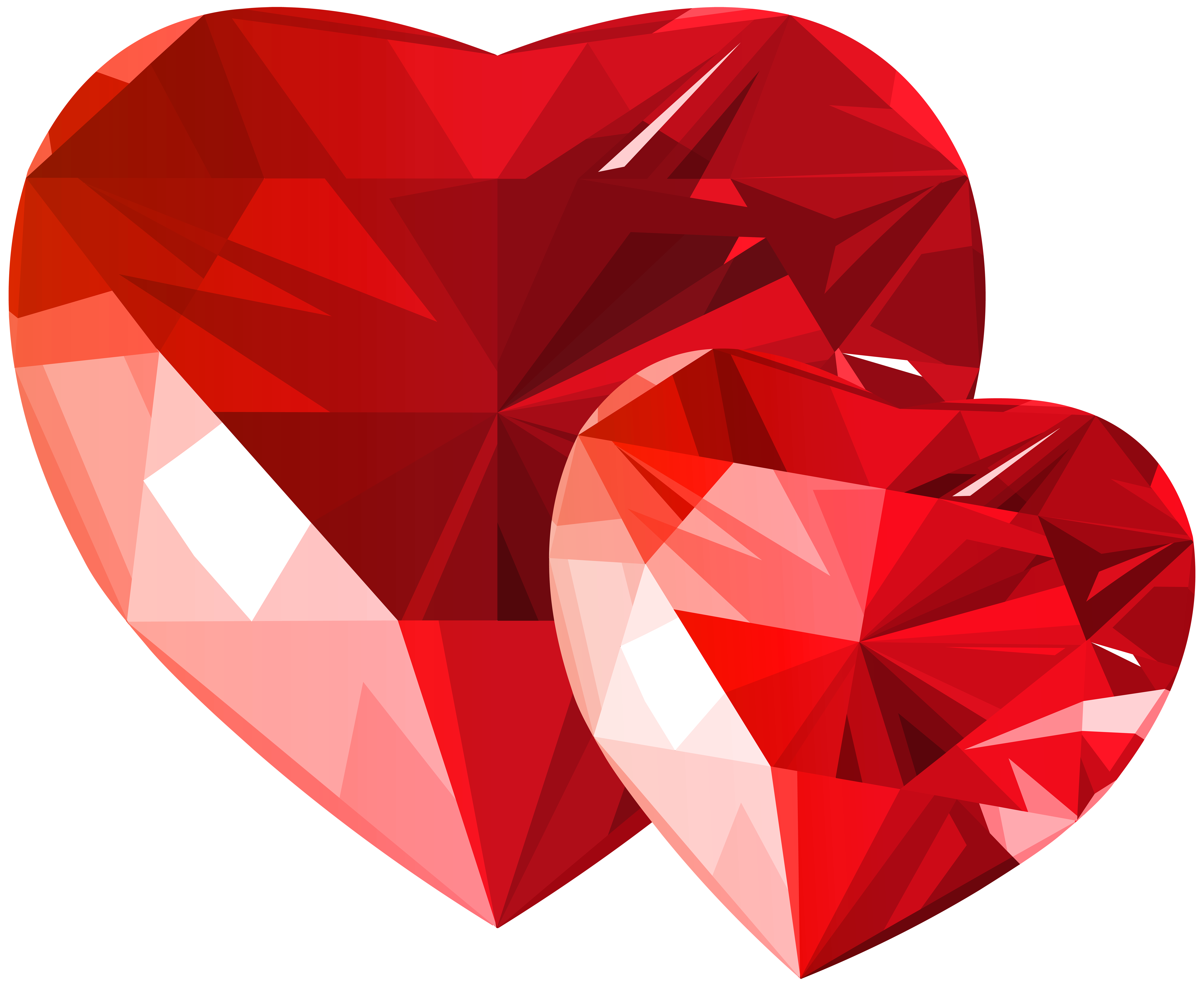 Clipart rock diamond. Hearts red transparent png