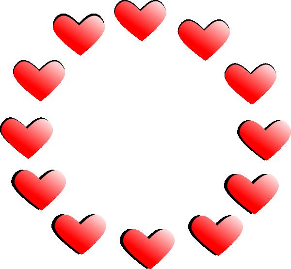 Shaded hearts clip art. Diamond clipart shading