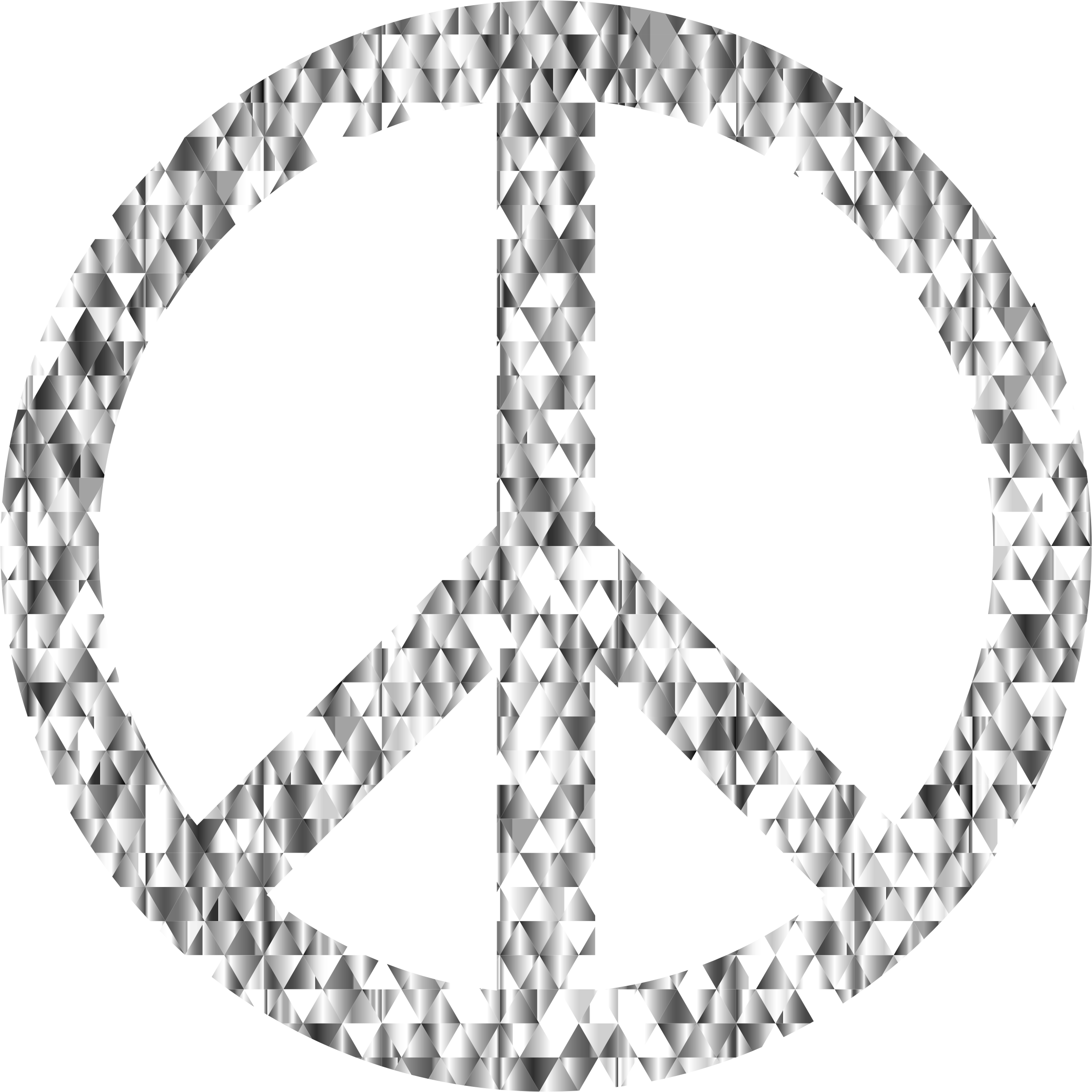 Diamond gemstone peace sign. Diamonds clipart circle