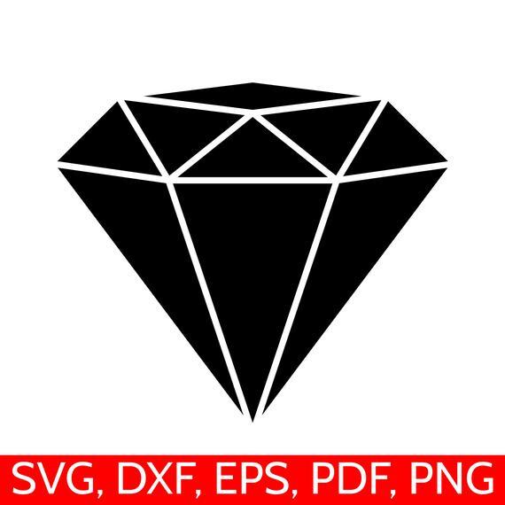 Diamond clipart silhouette. Svg file dxf cricut