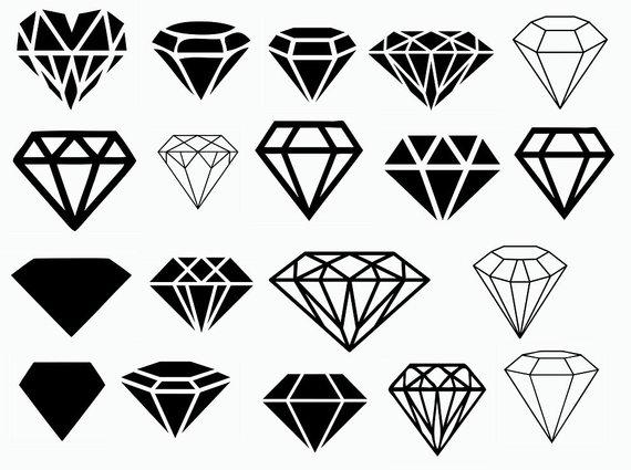 Diamond clipart silhouette. Svg cut files vinyl