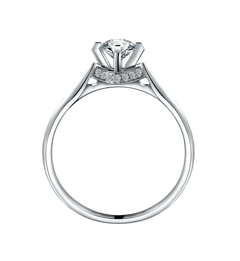 Ring with png image. Clipart diamond silver diamond