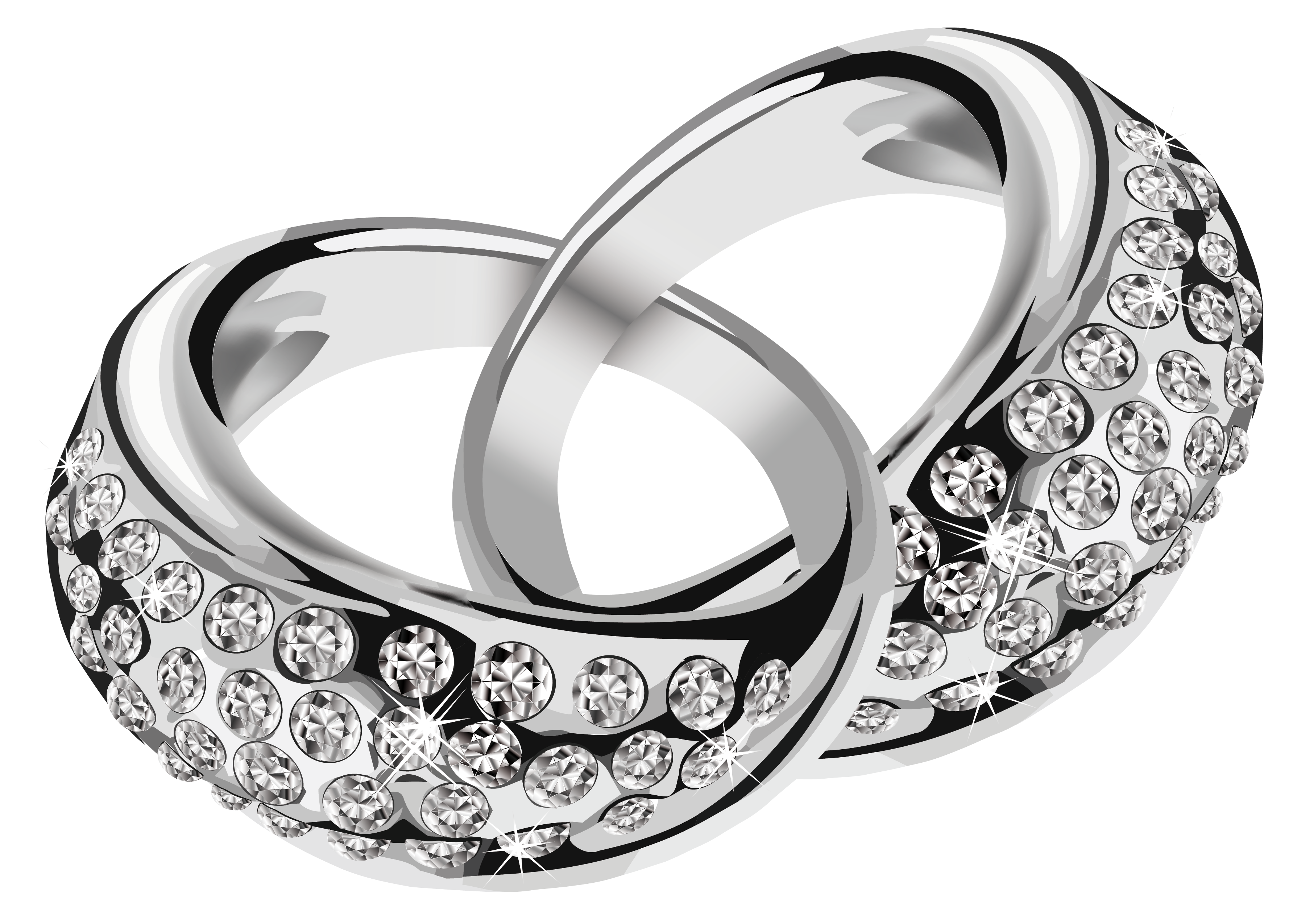 Engagement clipart shiny ring. Silver rings with diamonds