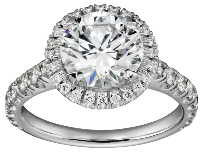 Silver ring with diamond. Engagement clipart transparent background