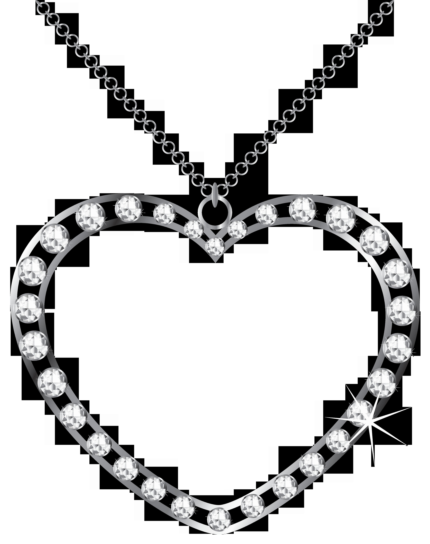 Clipart diamond silver diamond. Heart with diamonds transparent