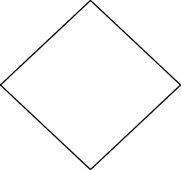 Clip art at clker. Diamond clipart square