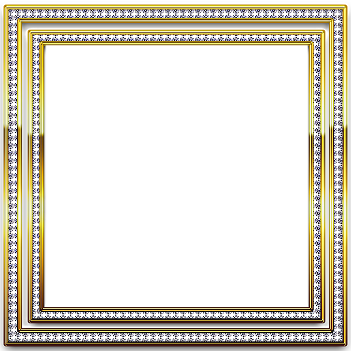 Gold and silver transparent. Diamond frame png
