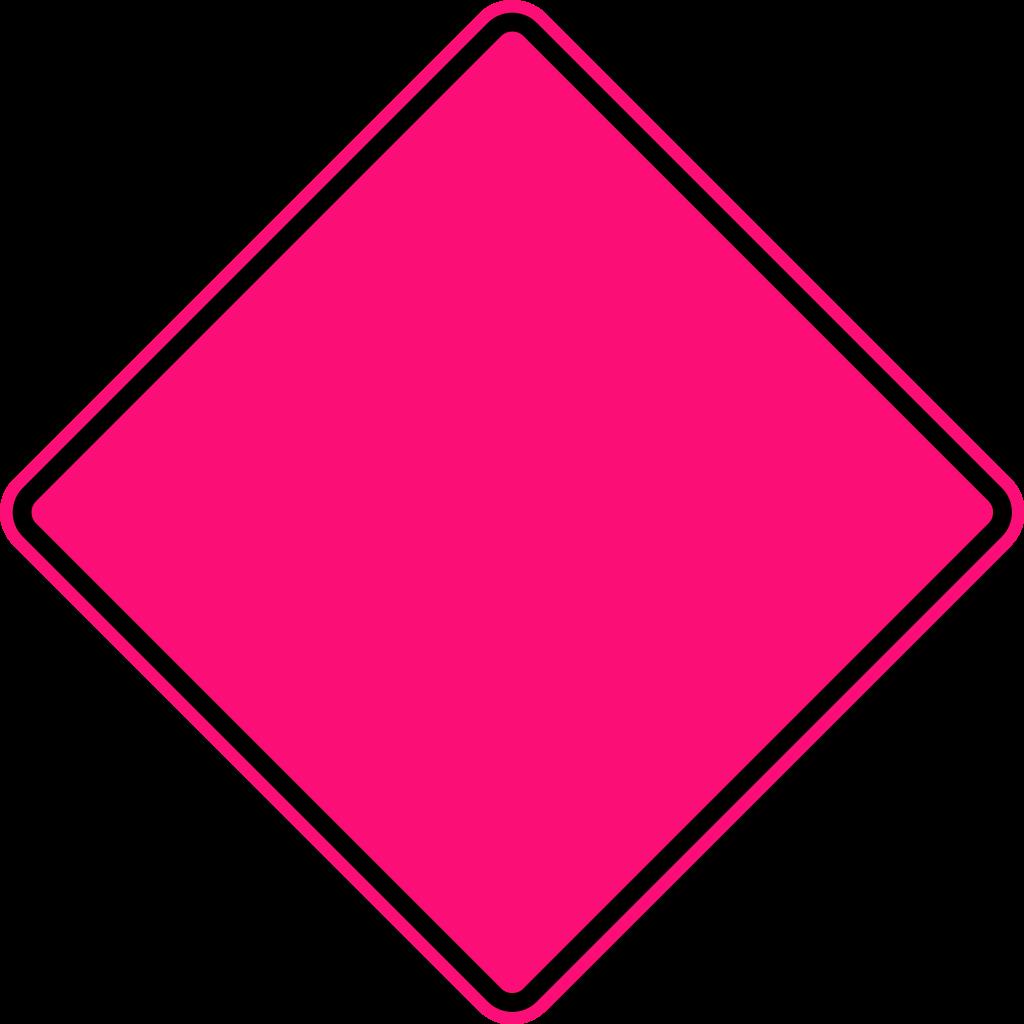 Clipart diamond svg. File warning sign fluorescent