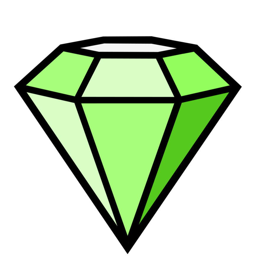 Clipart diamond symbol. Green by danakatherinescully on