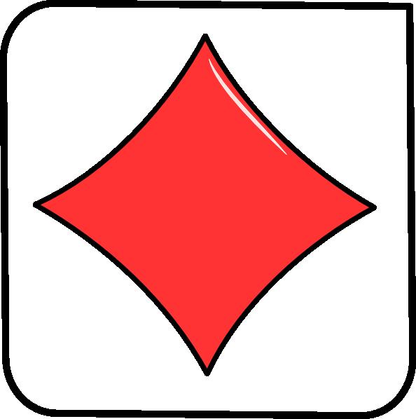 Card clip art at. Clipart diamond symbol