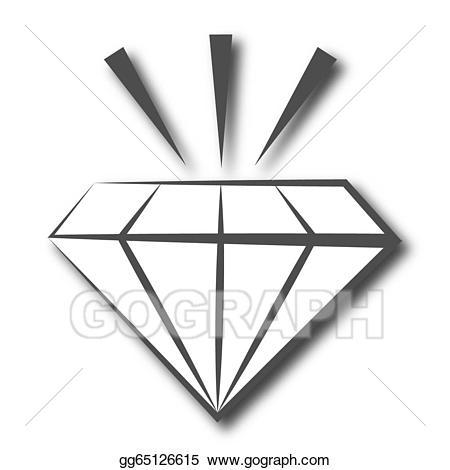 Clipart diamond symbol. Stock illustration gg