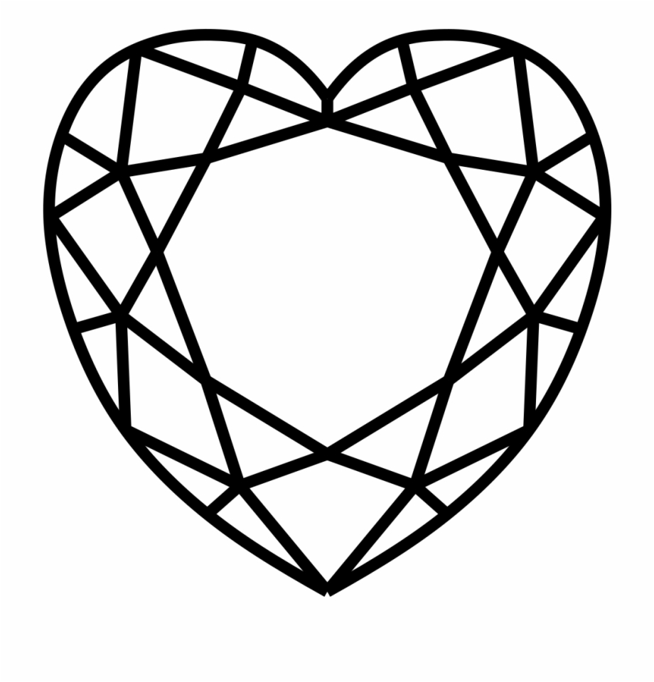 Diamond clipart top. Heart png view free