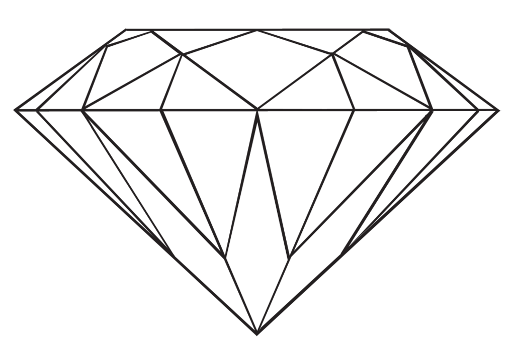 Diamond clipart coloring page. Transparent drawing at getdrawings