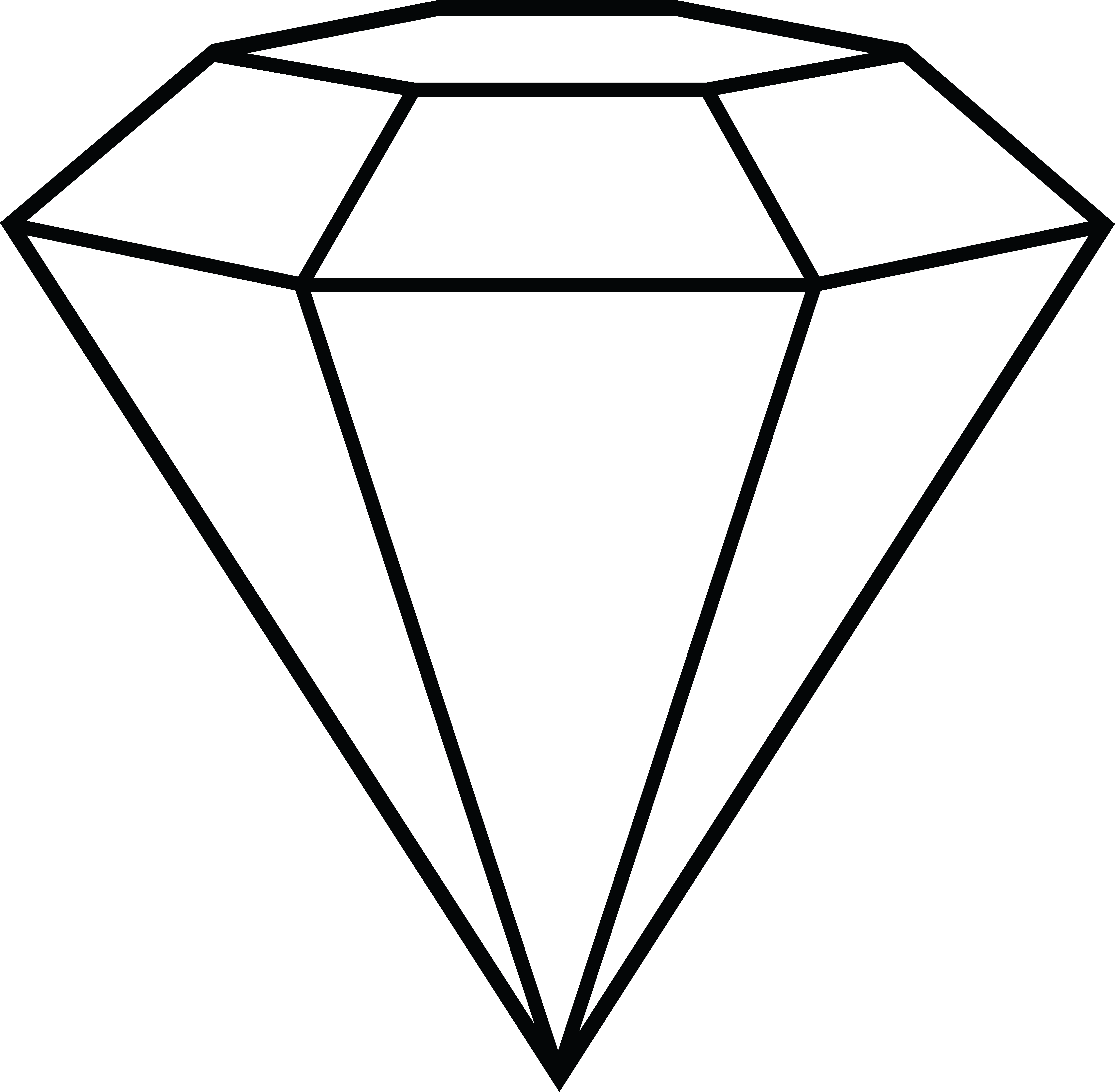 Outline transparent png background. Diamond clipart drawn