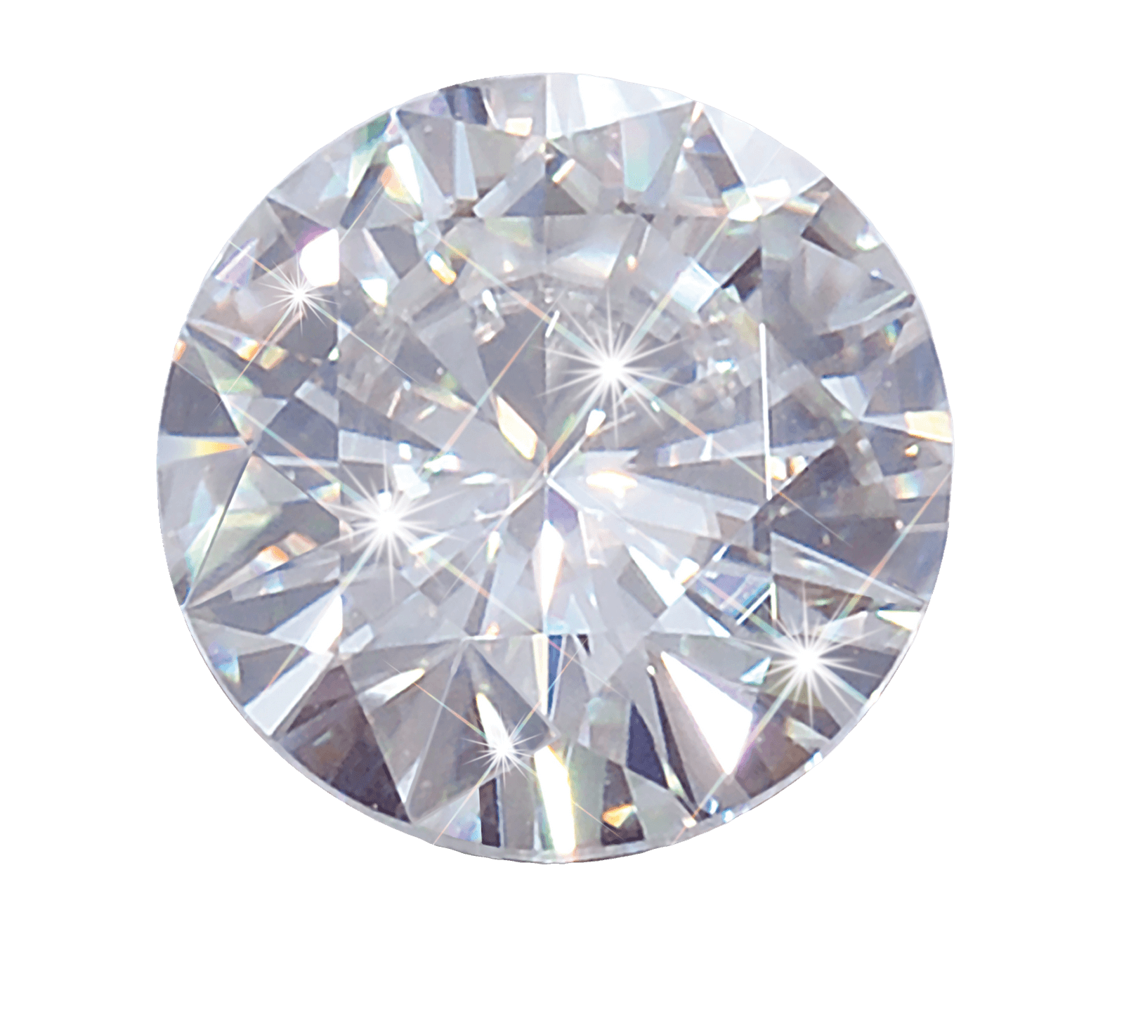 Round white diamond png. Crystal clipart transparent background
